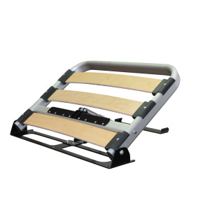 Bed frame with electric backrest