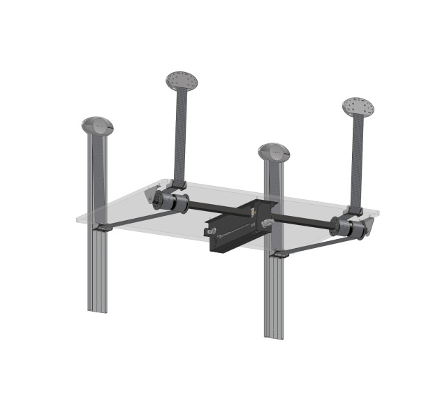 Manual bed lifting system on